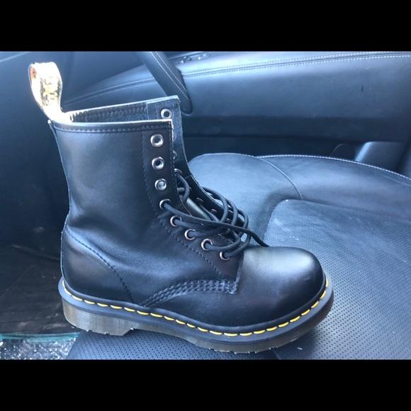 black dr martin boots